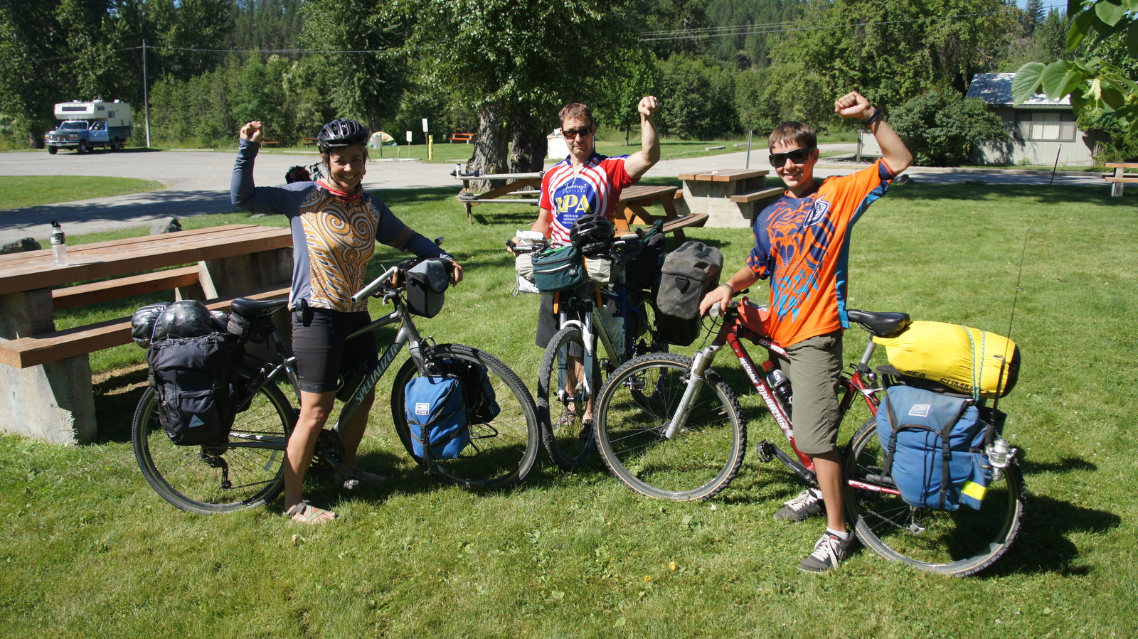 Continental Divide riders - Eli, Helen and Darcey
