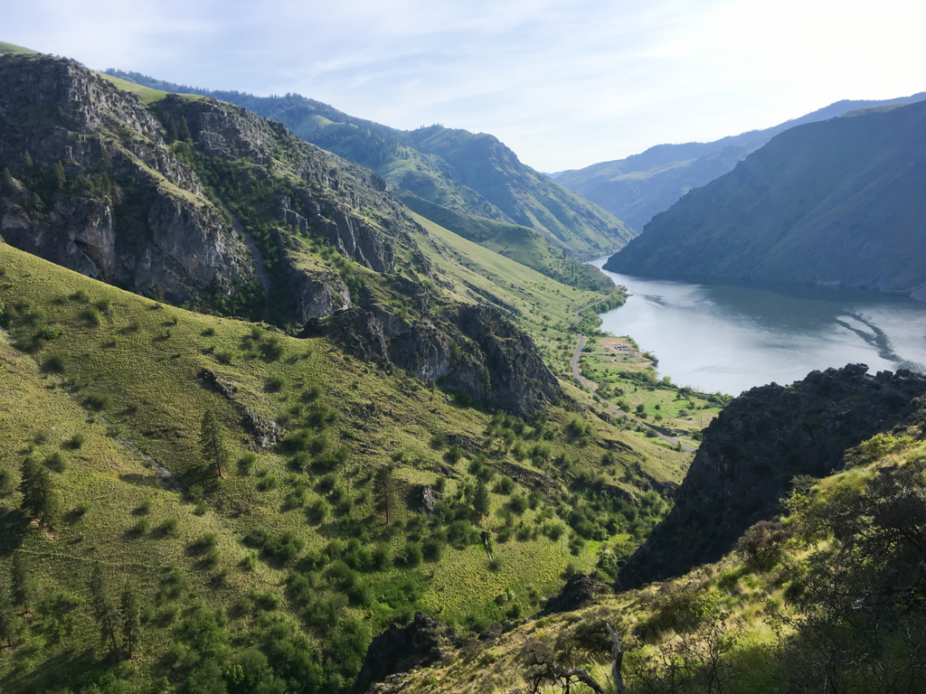 Hells Canyon rock climbing view